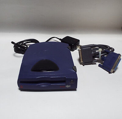 Iomega Z250P 250MB Parallel External Zip Disk Drive W/ Power Cord TESTED & WORKS