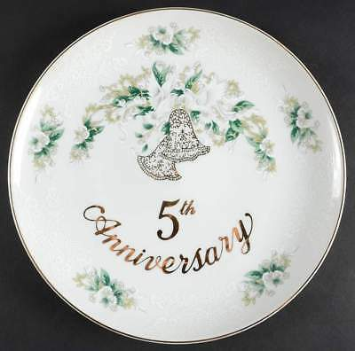 Lefton ANNIVERSARY 5th Anniversary Dinner Plate 10373440