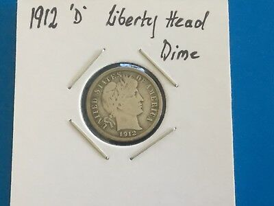 "1912 ""D"" US Liberty Head Dime. 106 years old."