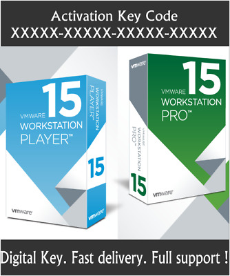 VMWare Workstation 15 PRO + VMWare Player Lifetime License Key 3PC FAST DELIVERY