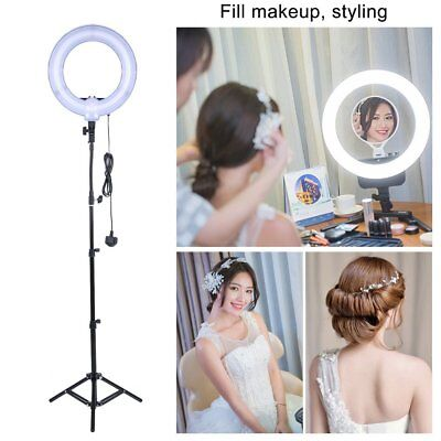 14 Inch Studio 40W 5500K Fluorescent Ring Light with 90cm Stand Photo Video UK B