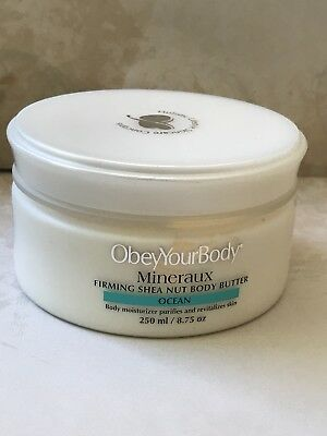 OBEY YOUR BODY MINERAUX FIRMING SHEA NUT BODY BUTTER PURIFIES  REVITALISES 250ml