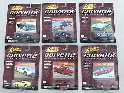 NIB 2000 Johnny Lightning Corvette Collection COMPLETE 6 CAR SET - FREE SHIPPING