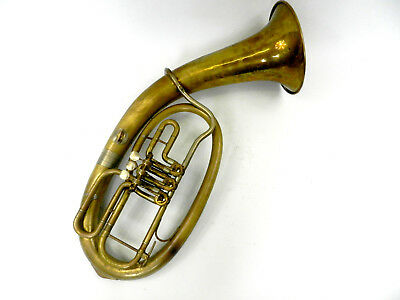 Tenor HORN Saxhorn Amati 3 flaps used case and mouthpiece (DR18-239)