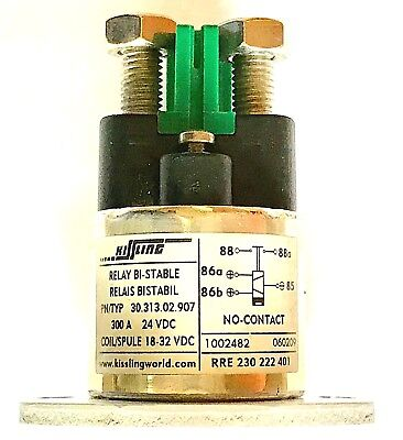 Relay Bistable Kissling 24V 24Vdc 300A - Contact type NO