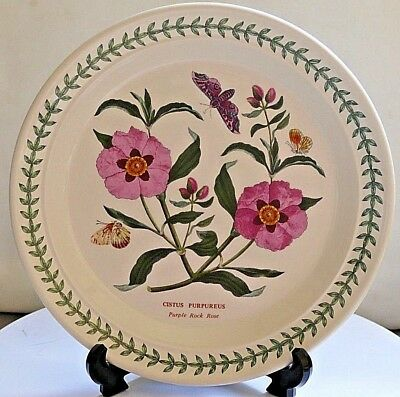 "PORTMEIRION Botanic Garden ~ 8.5"" Salad Plate ~ PURPLE ROCK ROSE  ~ 1st Quality"