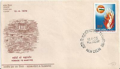 Fire Fighting India Homage To Martyrs Burning Flame Fdc 1773 Cover