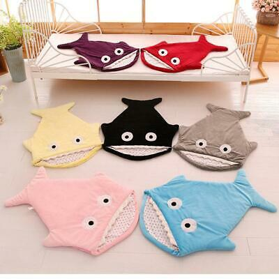 Young Baby Winter Cute Shark Sleeping Sack Wrap Blanket Toddler Photography Prop