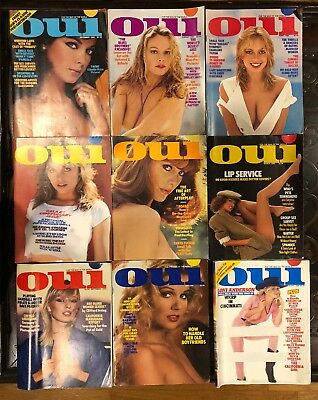 Playboy's OUI Man Of The World Magazine Vintage Collection Set 1980 Lot 9 Issues