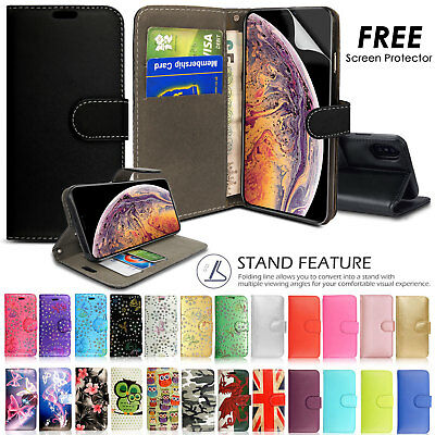 Case for iPhone 6s 7 8 Plus XS Max XR Flip Wallet Leather Cover Magntic Luxury