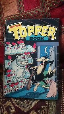 Vintage childrens annual Topper Book 1974 average condition Beryl the Peril etc