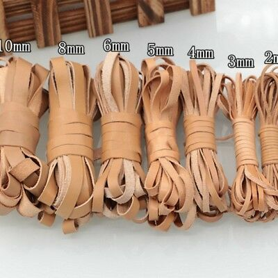 5M Flat Real Genuine Leather Rope String Strap Cowhide Bangle Necklace DIY Craft