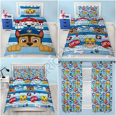Paw Patrol Peek - Duvet Cover Set Junior Single Double / Curtains / Blanket