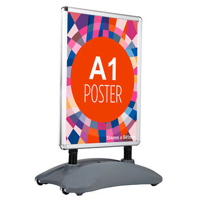 A1 Waterbase Pavement Sign A-Board Poster Holder-Snap Frame Shop Display Stand