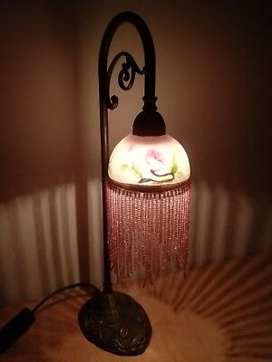 Gorgeous Art Nouveau Boudoir Table Lamp Reading Light Shabby Chic Vintage