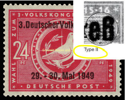 EBS Germany 1949 SBZ Meeting of 3rd People's Congress Volkskongreß 233 II MNH**