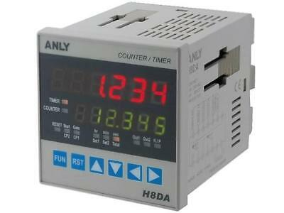 A-H8DA-12-48V Counter electronical Display LED Type of inputs NPN, PNP