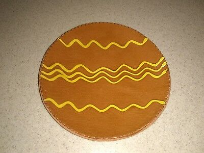 """Vintage Signed P & G Hodge Overcast Clay Pottery 7"""" Trinket Dish Plate Bowl"""