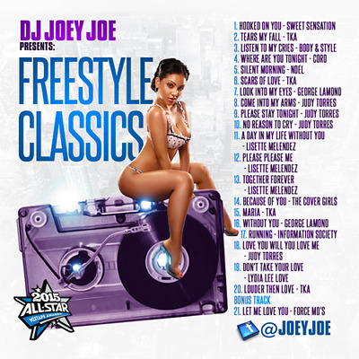 DJ Joey Joe Freestyle Classics Non Stop Party Old School 90' (Mix CD) Mixtape CD