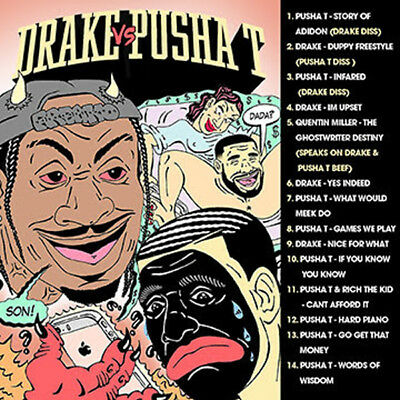 Pusha T VS Drake June 2018 (Mixtape) CD Rap PA Trap Hip Hop R&B Rnb RB DISS