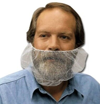 """RADNOR 21"""" white beard Face covers no. 64055410 1 Case - 1000 Covers A17"""