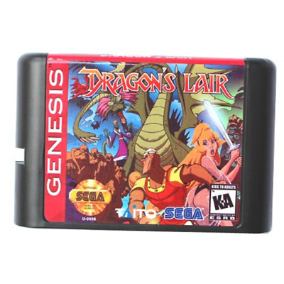 Dragons Lair 16 bit MD Game Card For Sega Mega Drive For Genesis