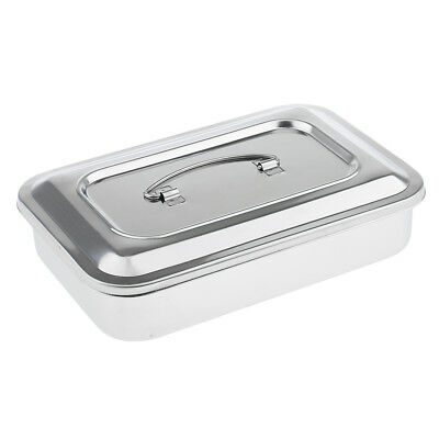 """Stainless Steel Medical Dental Surgical Instruments Tools Storage Box, 9"""""""