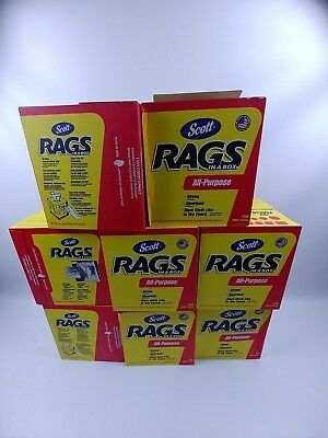 Scott Rags In A Box (75260), White, 200 Shop Towels/Box, 8 Boxes/Case - New