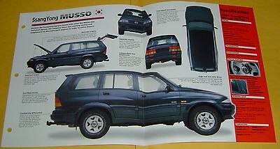 1997 SsangYong Musso GX220 South Korea 6 Cyl 217 hp IMP Info/Specs/photo 15x9
