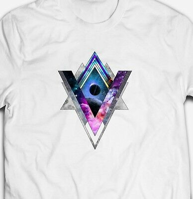 SPACE GEOMETRY UNIVERSE COSMOS ASTRONOMY PLANETS 100% cotton Mens T-shirt Tee