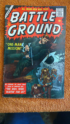 BATTLE GROUND #20 atlas war silver age comic book books lot of 1