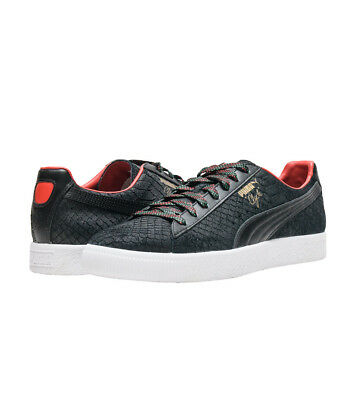 Puma Clyde GCC Black Leather 362631-01 Men s Sneaker Shoe NEW Snake Skin  Casual ac931c939
