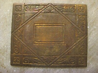 1920s Antique French Art Deco Engraved Die Struck Brass Jewelry Finding/Stamping