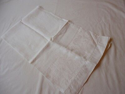 "Vintage Early 1900's  Linen Bath Towel  Damask  25"" x  44"""