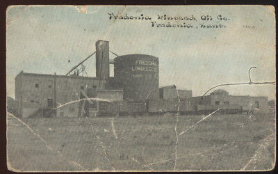 Early Picture Post Card, Fredonia Linseed Oil Co. Fredonia, Ks.