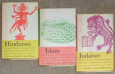 3 Comparitive Religions ~ Islam ~ Hinduism ~ Judaism ~ Vintage 1961 Hardcovers