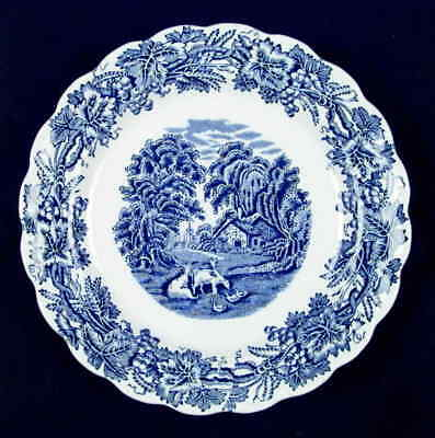 Booths BRITISH SCENERY BLUE (SCALLOPED) Salad Plate 37829