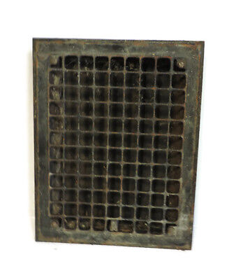 Vintage 1920S Iron Heating Grate Square Design 14 X 11 Y