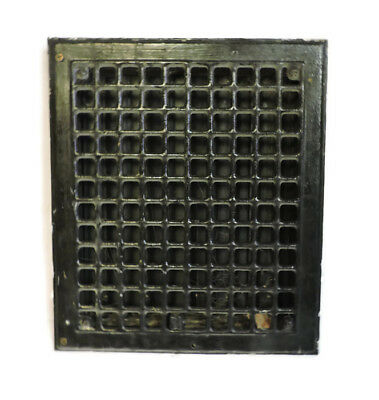 Vintage 1920S Iron Heating Grate Square Design 14 X 12 Y