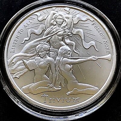 2018 Silver Bullet Shield MiniMintage Series Trivium 1 oz 999 Silver Round Coin