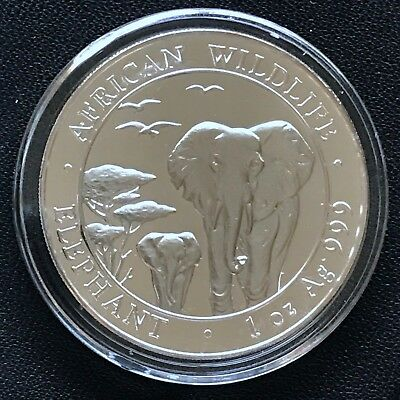 2015 Somalian Elephant 1 oz .999 Silver Brilliant Uncirculated Mint Coin Africa