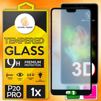 3D Panzer Glas Huawei P20 PRO Curved Full Screen Schutz Tempered Panzerfolie