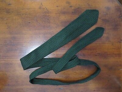 The West End Shop fab vintage black and green textured silk knit skinny tie