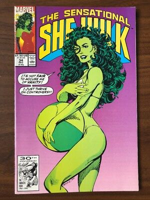 Sensational She-Hulk #34 (1991) 1st Print JOHN BYRNE MARVEL VF/NM VANITY FAIR!!!