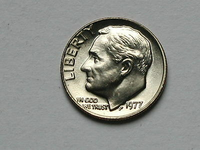 USA 1977 10 CENTS Roosevelt Dime Coin UNC BU