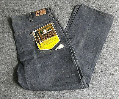 Vintage 80's NEW WITH TAGS Roebucks Mens Deadstock Raw Unwashed Denim Jeans NOS!
