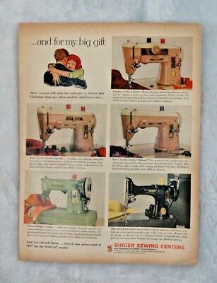 1959 SINGER Sewing Machine Advertisement Vintage Ad