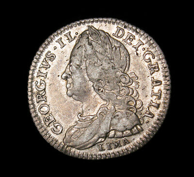 1746 Great Britain 6 Pence KM# 582.3 silver coin LIMA VF+ George II
