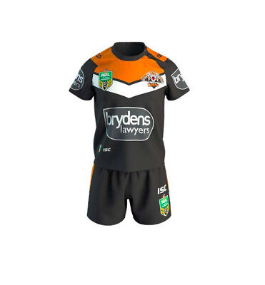 Wests Tigers 2018 NRL Toddler Home Jersey + Shorts Set **BNWT** (SIZE 4 ONLY)