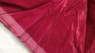 "Vintage Velvet Fabric CRANBERRY RED VELVET 29""/60"""